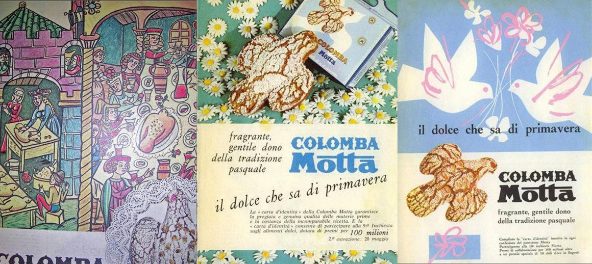 Plakaty reklamowe Motty z lat 60.