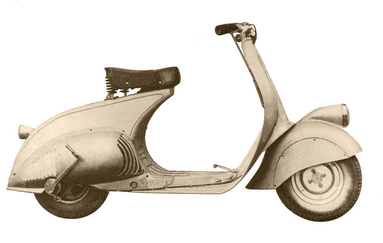 Pierwszy model vespy MP6