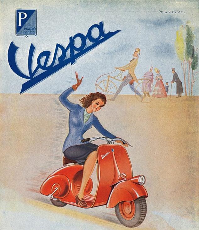 pierwszy plakat reklamowy vespy