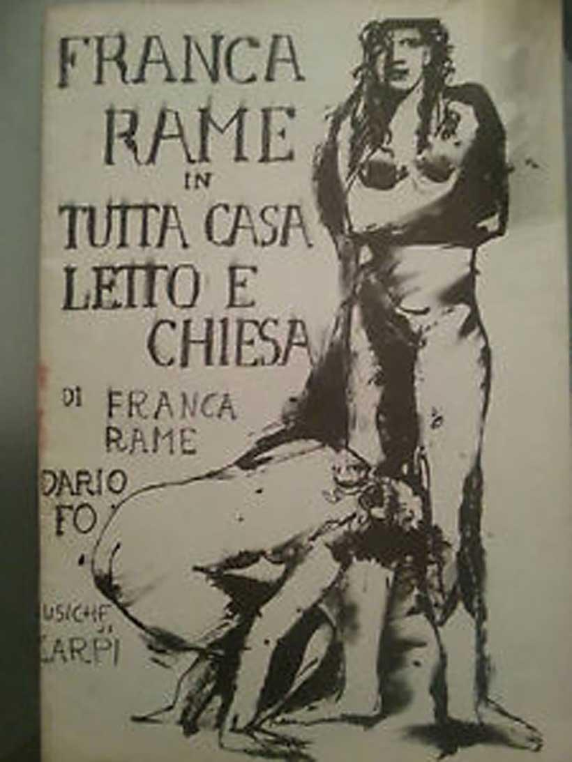 Plakat do spektaklu Franki Rame
