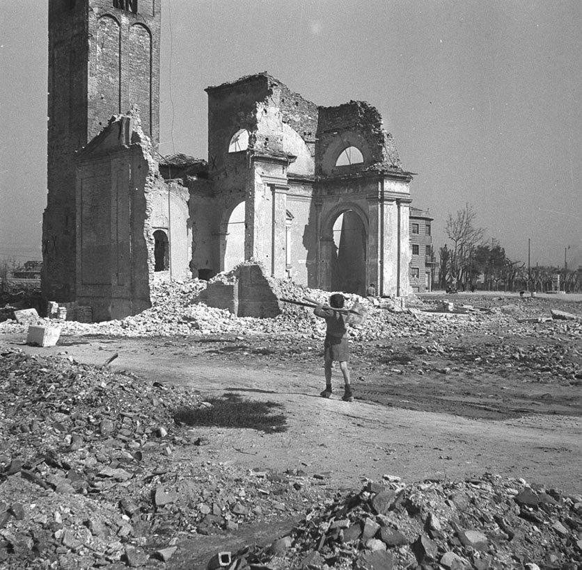 Chiesa di San Nicolo al Porto po zbombardowaniu w 1946