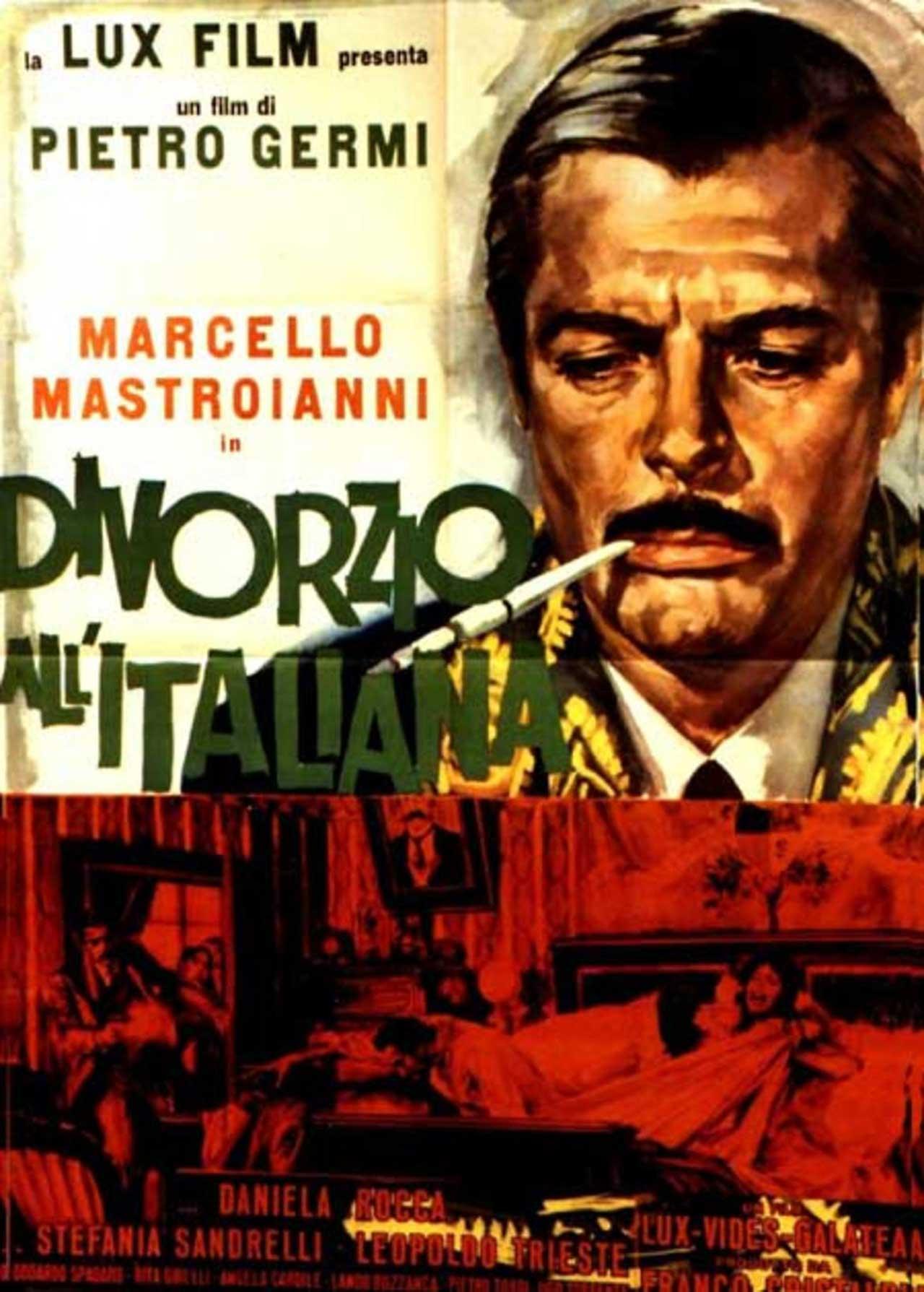 Divorzio all'italiana (1961) jest jednym z najsłynniejszych filmów włoskiej komedii.
