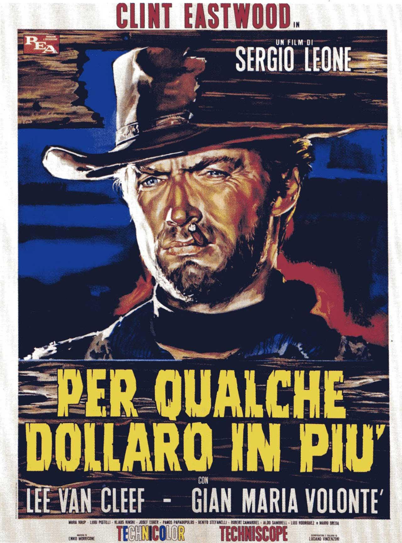 Clint Eastwood w Zak ilka dolarów więcej (1965) w reżyserii Sergia Leona