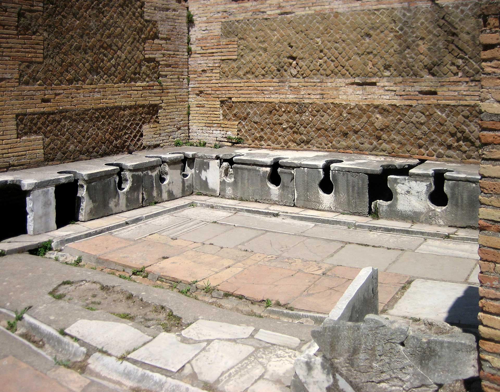 Starożytne latryny w Ostii